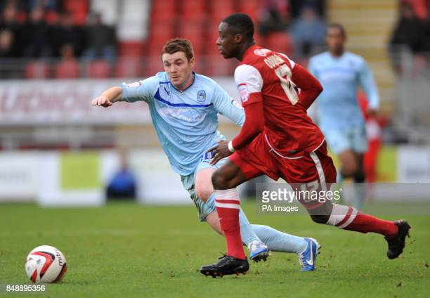 Coventry City's John Fleck in action with Leyton Orient's Moses Odubajo during the npower League One match at Brisbane Road London