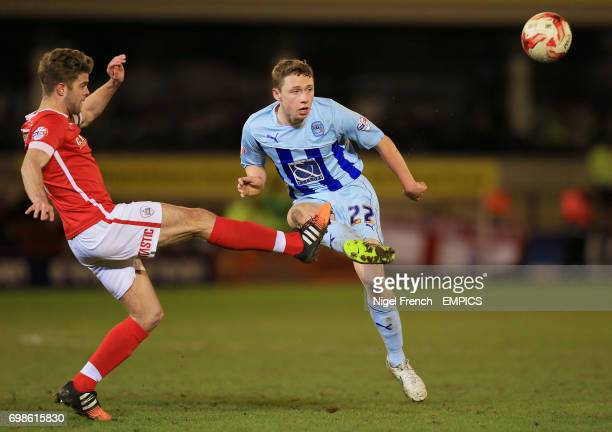 Coventry City's Matthew Pennington and Barnsley's Martin Cranie