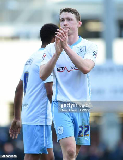 Coventry City's Matthew Pennington applauds the fans after the game