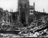 Coventry'S Cathedral Destroyed By The Blitz In 1940