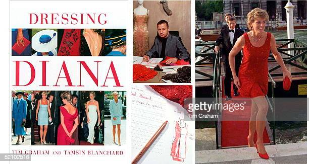 Cover And Inside Spread Of Dressing Diana Book By Tim Graham