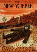 Cover by Chas Addams of american magazine 'The New Yorker' june 14 1958 Lilliputians have caught an astronaut