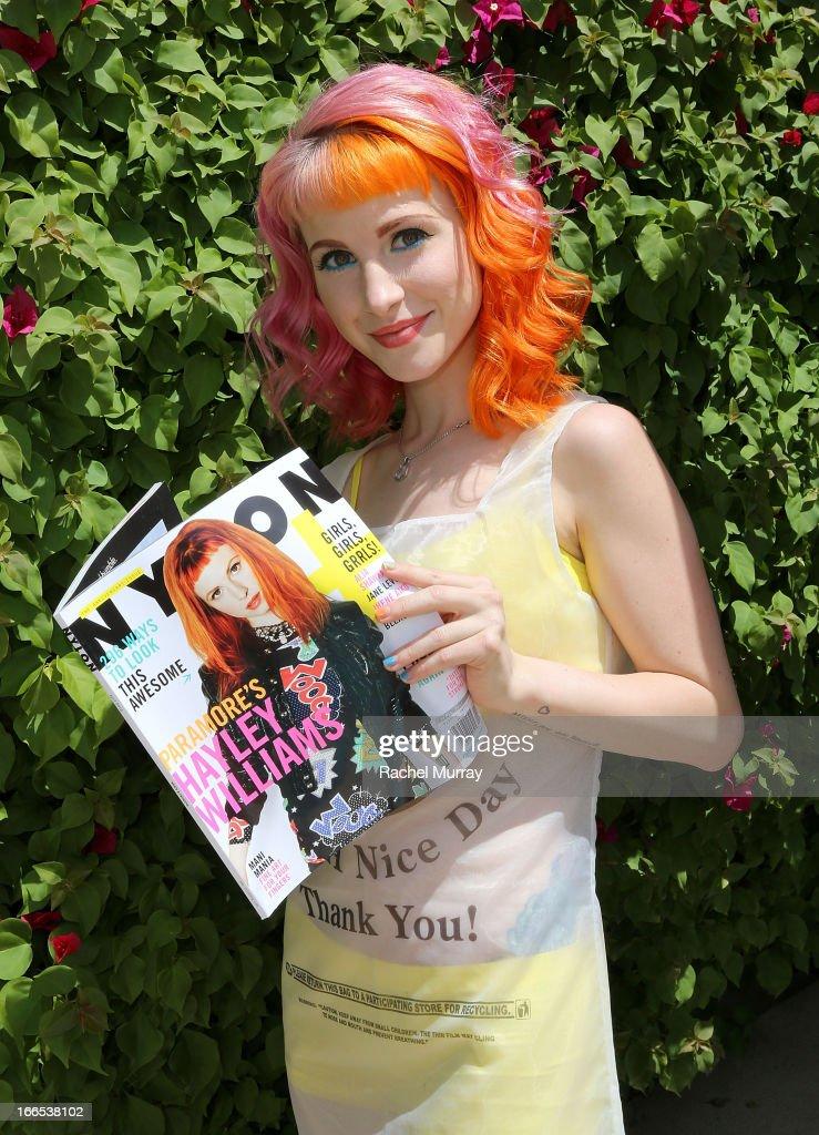 Cover Hayley Williams of the band Paramore attends NYLON x BOSS ORANGE Escape House - Day 1 at Lake La Quinta Inn on April 13, 2013 in La Quinta, California.