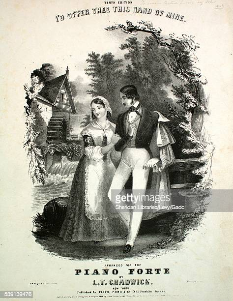 Cover image of sheet music for the song 'I'd Offer Thee This Hand of Mine Tenth Edition ' arranged for the piano forte by 'LT Chadwick ' with...
