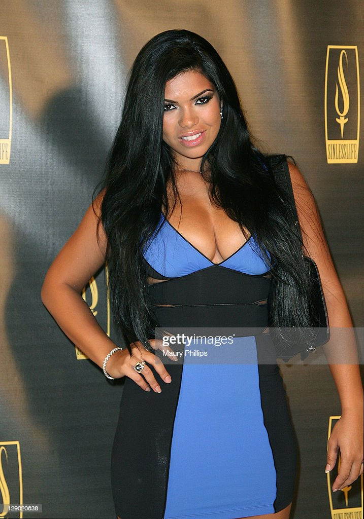 Cover model Suelny Medeiros arrives at the Sinlesslife web and jewelry collection launch party at Falcon Restaurant on October 9, 2011 in Hollywood, California.