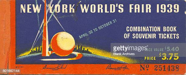 Cover of a book of tickets valid for the New York World's Fair New York New York 1939