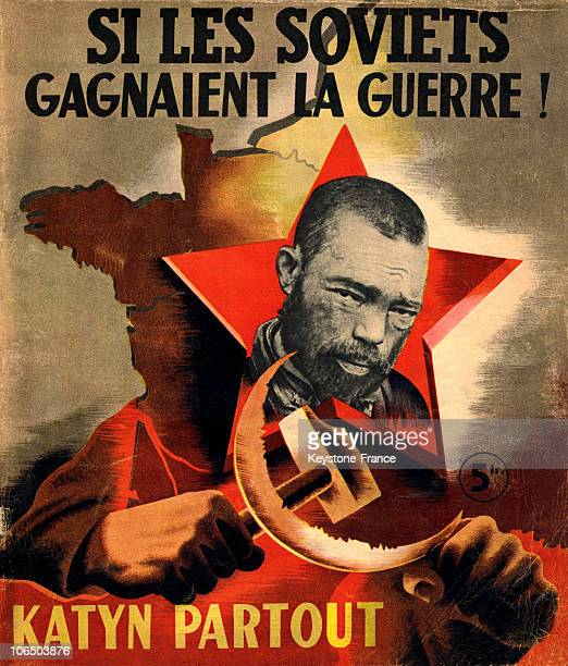 Cover Of A French Brochure Of Extreme And Anticommunist RightWing At The Beginning Of The World War Ii Issued By The Central Bureau Of Press And...