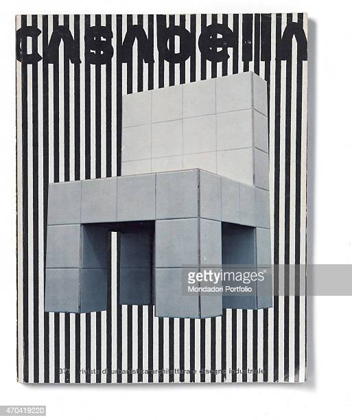 'Cover of Casabella N 371 November 1972 20th Century graphic5 x 31 cm Italy Lombardy Milan Arnoldo Mondadori Editore Whole artwork view Black title...