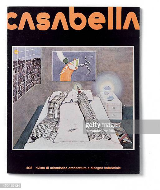 'Cover of Casabella N 408 December 1975 20th Century graphic 31 x 245 cm Italy Lombardy Milan Arnoldo Mondadori Editore Whole artwork view Orange...