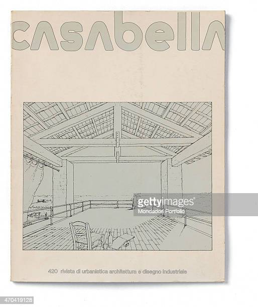 'Cover of Casabella N 420 December 1976 20th Century graphic 31 x 245 cm Italy Lombardy Milan Arnoldo Mondadori Editore Whole artwork view Gray edged...