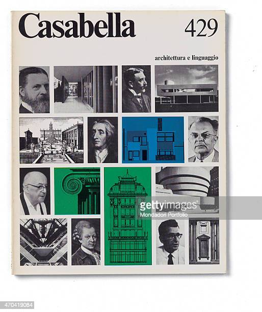 'Cover of Casabella N 429 October 1977 20th Century graphic 31 x 245 cm Italy Lombardy Milan Arnoldo Mondadori Editore Whole artwork view Black...