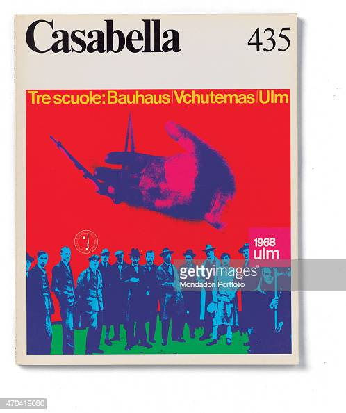 'Cover of Casabella N 435 April 1978 20th Century graphic 31 x 245 cm Italy Lombardy Milan Arnoldo Mondadori Editore Whole artwork view Black...