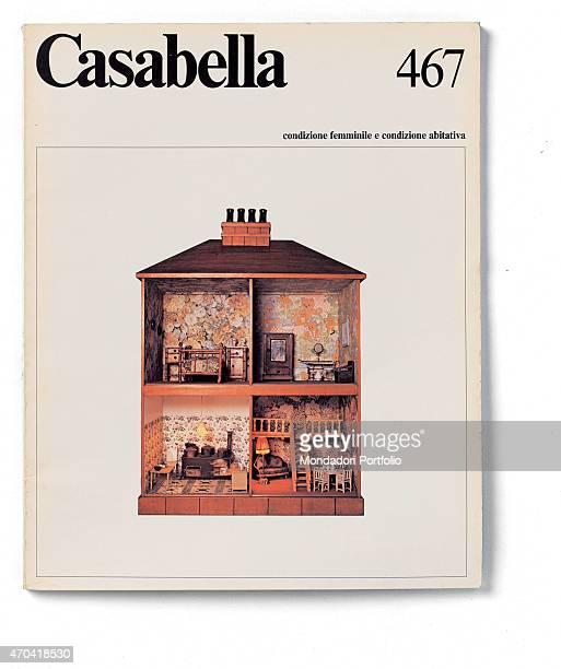 'Cover of Casabella N 467 March 1981 20th Century graphic 31 x 245 cm Italy Lombardy Milan Arnoldo Mondadori Editore Whole artwork view Black...
