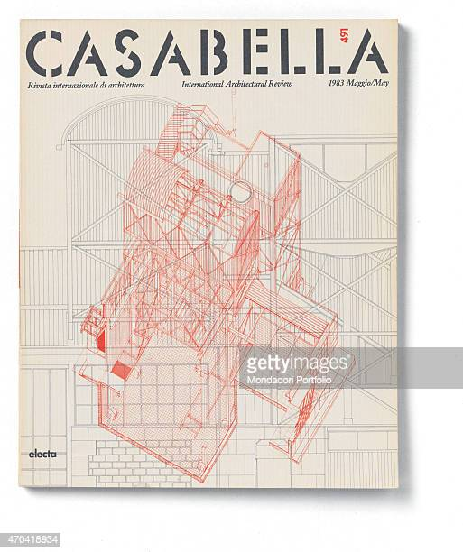 'Cover of Casabella N 491 May 1983 20th Century graphic 31 x 28 cm Italy Lombardy Milan Arnoldo Mondadori Editore Whole artwork view Gray headline on...