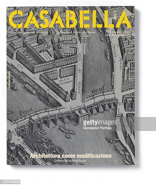 'Cover of Casabella N 498499 JanuaryFebruary 1984 20th Century graphic 31 x 245 cm Italy Lombardy Milan Arnoldo Mondadori Editore Whole artwork view...
