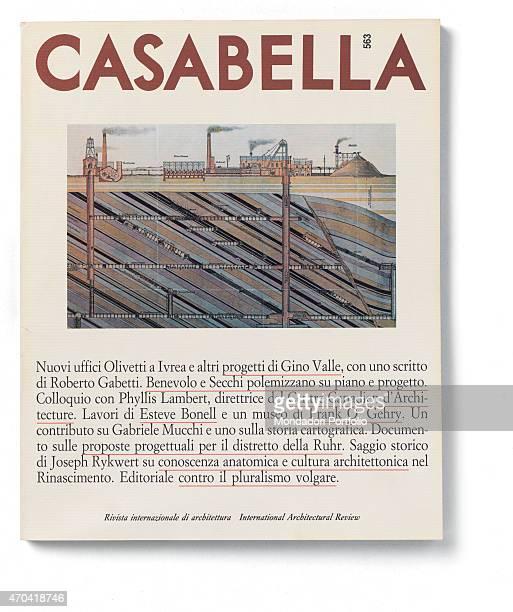 'Cover of Casabella N 563 December 1989 20th Century graphic 31 x 28 cm Italy Lombardy Milan Arnoldo Mondadori Editore Whole artwork view On a white...