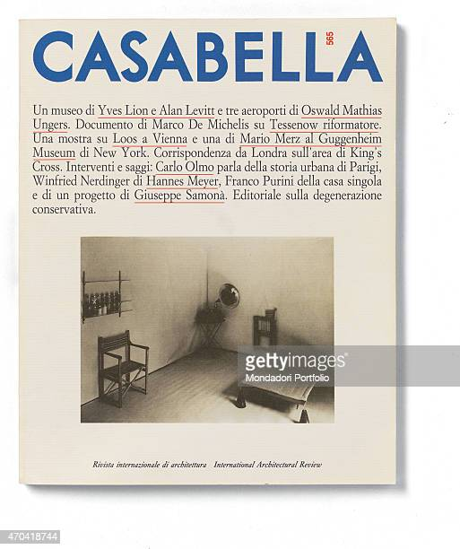'Cover of Casabella N 565 February 1990 20th Century graphic 31 x 28 cm Italy Lombardy Milan Arnoldo Mondadori Editore Whole artwork view On a white...