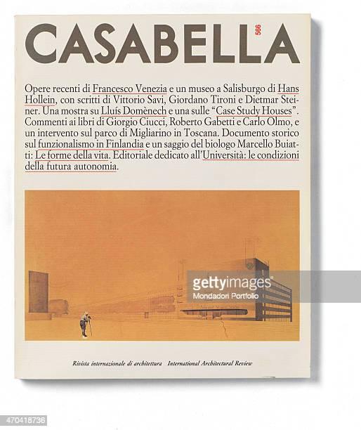 'Cover of Casabella N 566 March 1990 20th Century graphic 31 x 28 cm Italy Lombardy Milan Arnoldo Mondadori Editore Whole artwork view On a white...