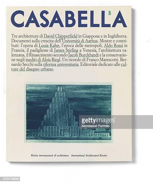'Cover of Casabella N 584 November 1991 20th Century graphic 31 x 28 cm Italy Lombardy Milan Arnoldo Mondadori Editore Whole artwork view On a white...