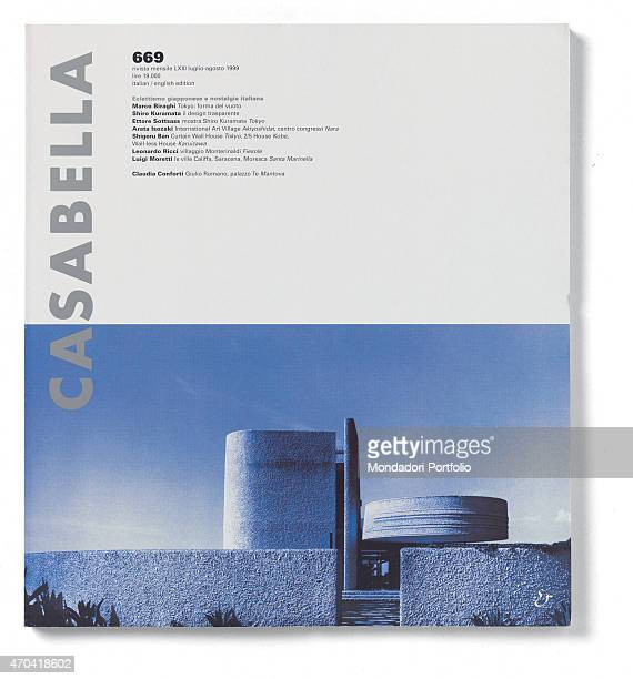 'Cover of Casabella N 669 JulyAugust 1999 20th Century graphic 31 x 28 cm Italy Lombardy Milan Arnoldo Mondadori Editore Whole artwork view Grey...