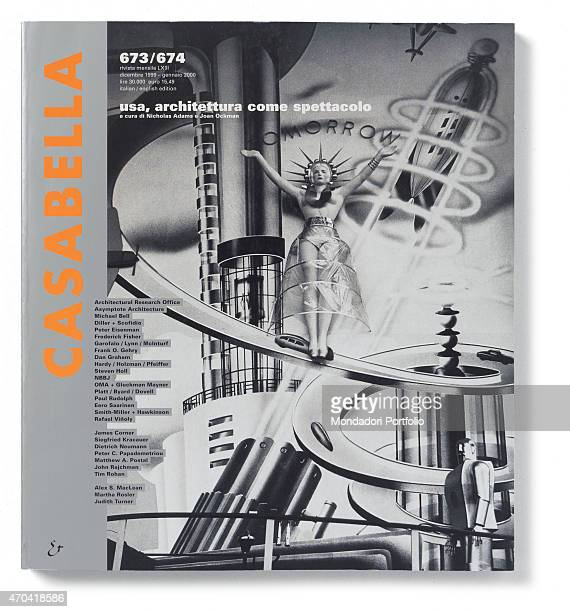 'Cover of Casabella N 673674 December 1999 January 2000 20th Century graphic 31 x 28 cm Italy Lombardy Milan Arnoldo Mondadori Editore Whole artwork...