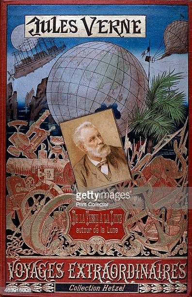 Cover of De la Terre a la Lune and Autour de la Lune from the Voyages Extraordinaires series by the popular French science fiction writer Jules Verne...
