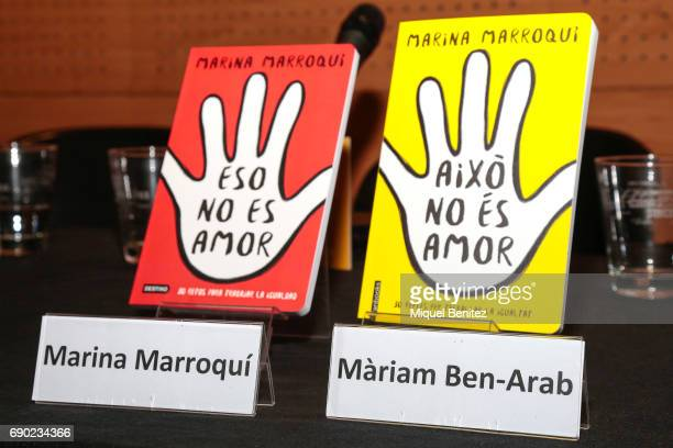 Cover of 'Eso No Es Amor' 'Aixo No Es Amor' 'That's not Love' book presentation at the Fnac Triangle on May 30 2017 in Barcelona Spain