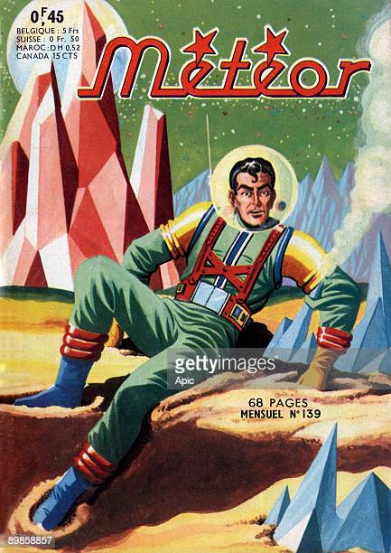 Cover of french magazine Meteor with science fiction cartoons
