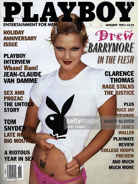 Cover of Playboy with Drew Barrymore Photo Playboy