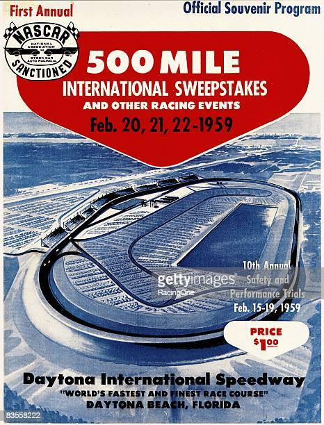 Cover of the 1959 Daytona 500 souvenir program