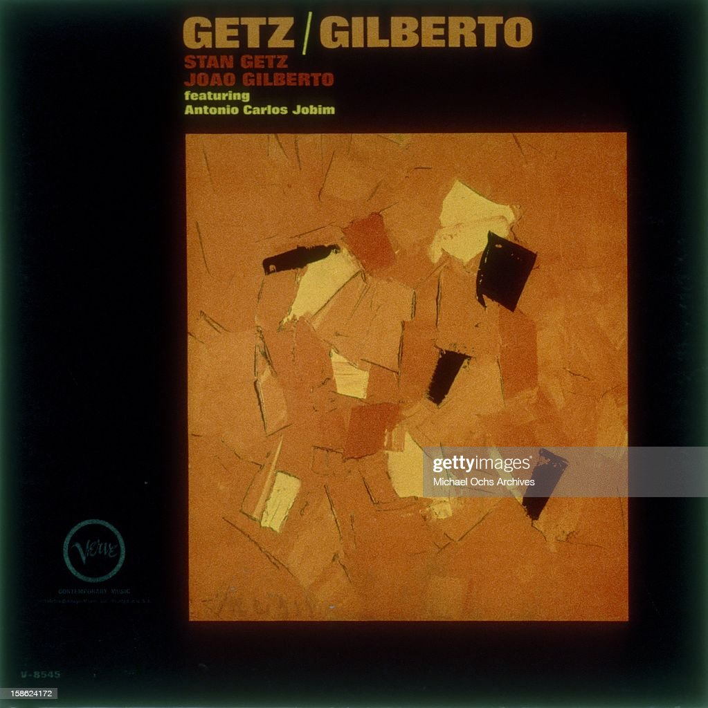 Cover of the album 'Getz/Gilberto' by <a gi-track='captionPersonalityLinkClicked' href=/galleries/search?phrase=Stan+Getz&family=editorial&specificpeople=905661 ng-click='$event.stopPropagation()'>Stan Getz</a> and <a gi-track='captionPersonalityLinkClicked' href=/galleries/search?phrase=Joao+Gilberto&family=editorial&specificpeople=2013164 ng-click='$event.stopPropagation()'>Joao Gilberto</a> featuring Antonio Carlos Jobim and released in March 1964.