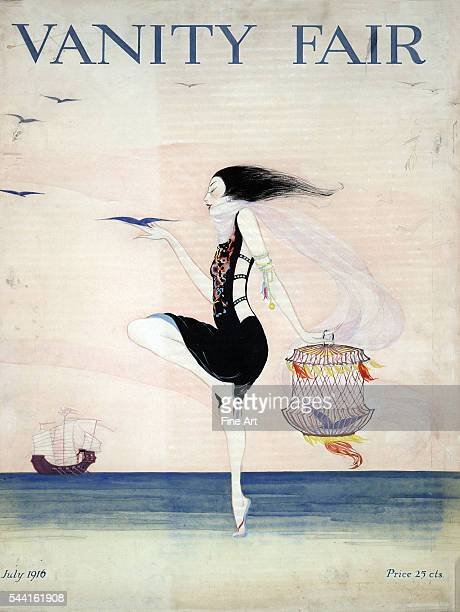 Cover of woman dancing on the shore from July 1916 Gouache and watercolor over pencil on watercolor board 597 x 456 cm