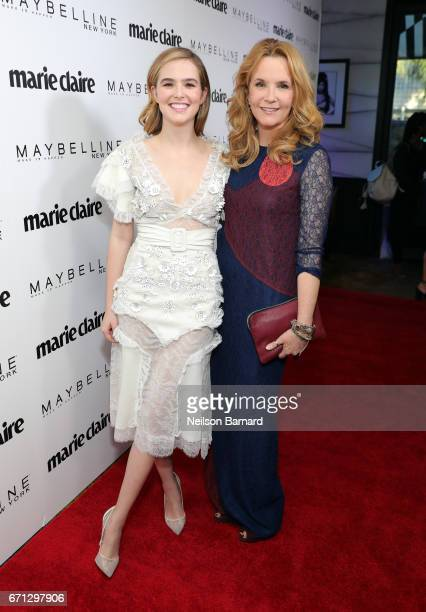 Cover star Zoey Deutch and actress Lea Thompson attend Marie Claire's 'Fresh Faces' celebration with an event sponsored by Maybelline at Doheny Room...
