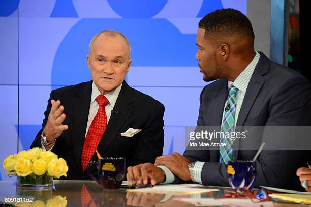 AMERICA Coverage of GOOD MORNING AMERICA 9/20/16 airing on the ABC Television Network {Photo by Ida Mae Astute/ABC via Getty Images Former NYPD...