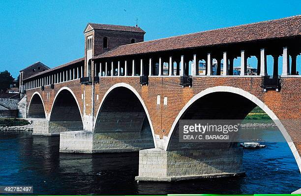 Covered bridge 14th20th century Pavia Lombardy Italy