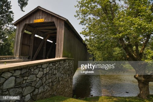 Covered bridge in Amish county