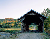 Covered bridge in rural Vermont