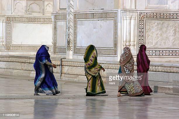 Covered Hindi ladies, Agra, India