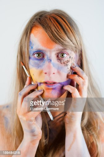 Covered in Paint : Stock Photo