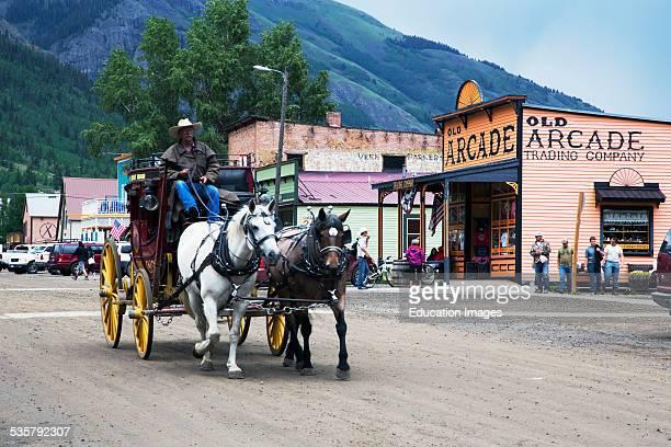 Covered wagon and horses Silverton Colorado