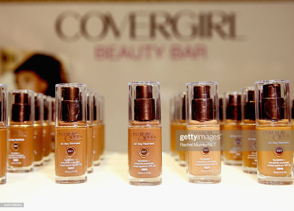 CoverGirl products are displayed at Fashion And Beauty @BETX presented by Progressive, Covergirl, Strength of Nature, Korbel and Macy's during the 2016 BET Experience on June 25, 2016 in Los Angeles, California.