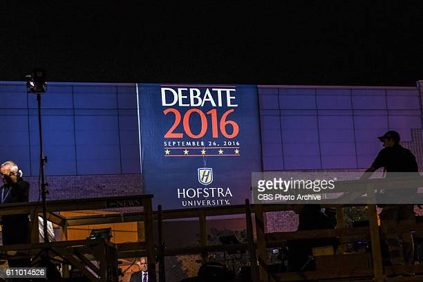 CBS covers the first presidential debate at Hofstra University on Sept 26 2016