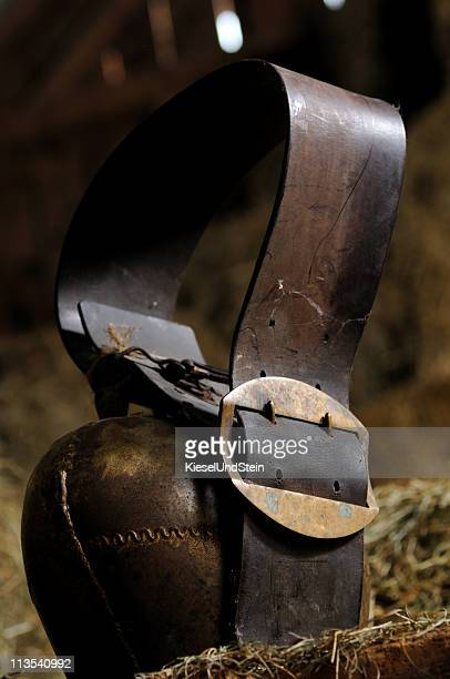 Cow bell in einer Scheune