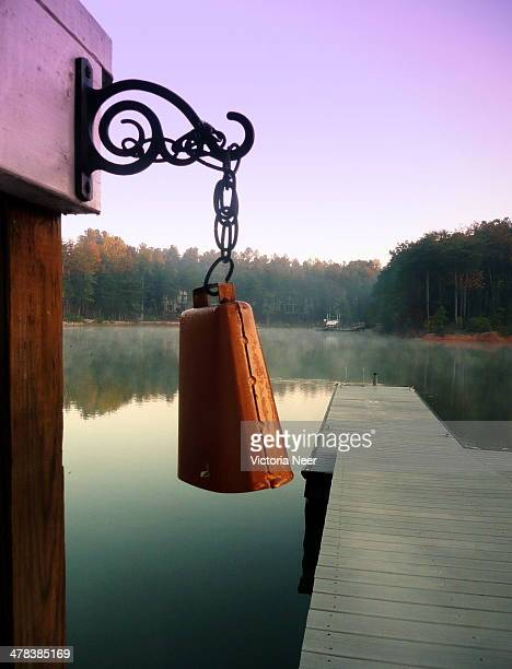 Cow bell on foggy lake