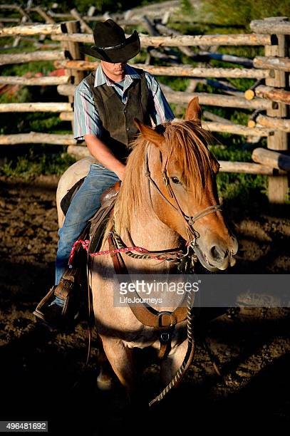 Cowboy and All Around Wrangler Training His Horse