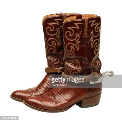 cowboy boots with spurs stock photo getty images