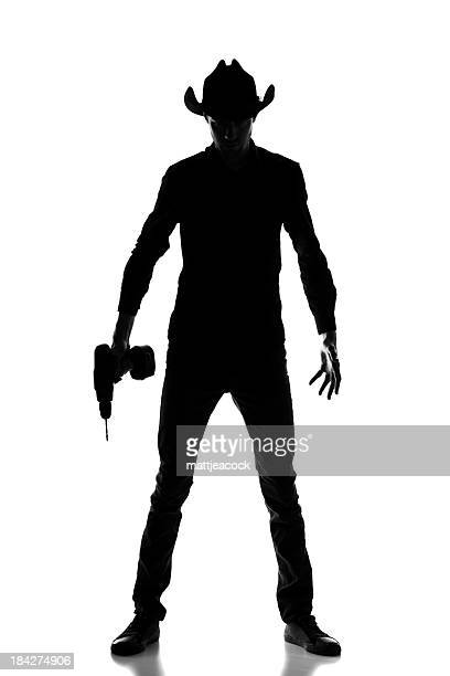 Cowboy builder silhouette