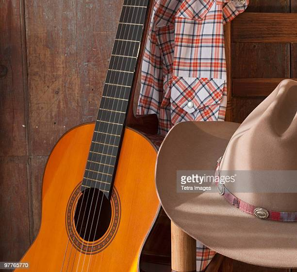 Hanging Guitars On Wall Stock Photos And Pictures Getty