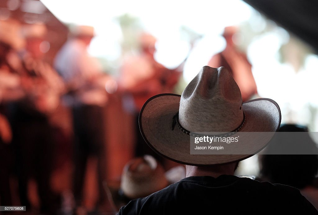 A cowboy hat is seen during 2016 Stagecoach California's Country Music Festival at Empire Polo Club on May 01, 2016 in Indio, California.