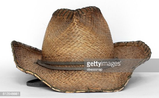 cowboy hat straw front view stock photo thinkstock